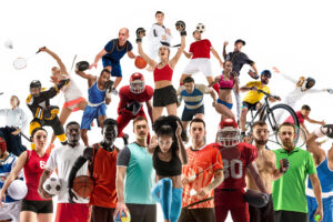 Sport,Collage,Made,Of,Different,Photos,Of,20,Models.,Tennis,