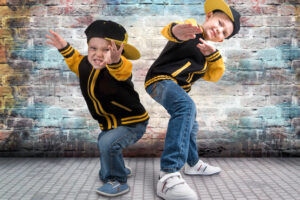 Two,Brothers,Dancing,Break,Dance.hip-hop,Style.the,Cool,Kids.